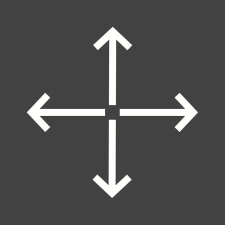 porgere: Full, extend, display  icon vector image. Can also be used for arrows. Suitable for mobile apps, web apps and print media.