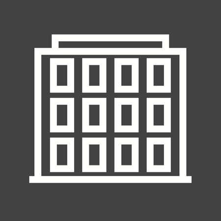 hotel pool: Hotel, pool, resort icon vector image. Illustration
