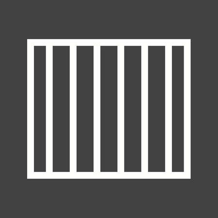 jail cell: Prison, bars, jail icon vector image.