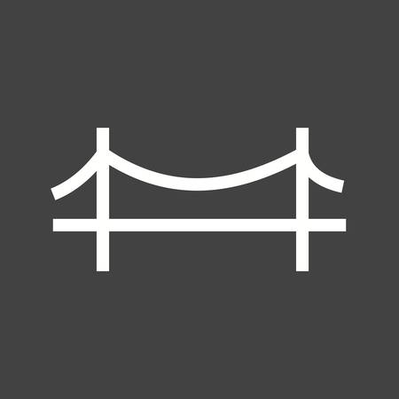 suspension bridge: Bridge, suspension, rope icon vector image.