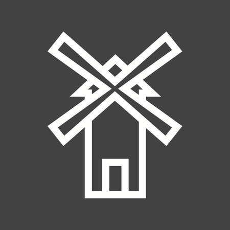wind farm: Windmill, wind, farm icon vector image.