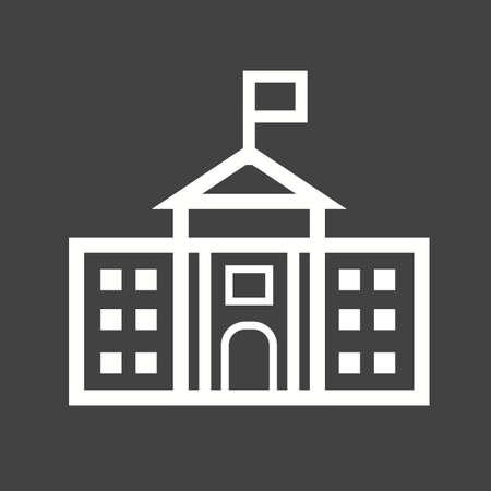senate: White, house, washington icon vector image. Illustration
