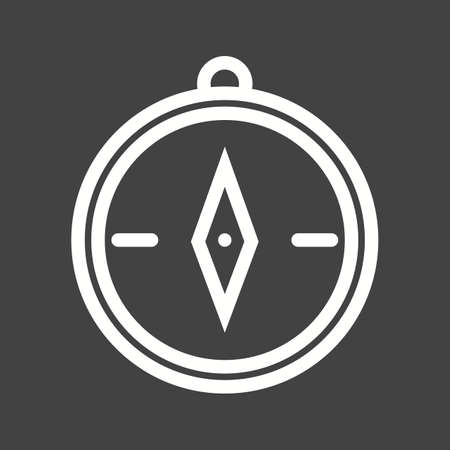 vecotr: Compass, object, geometry icon vector image.