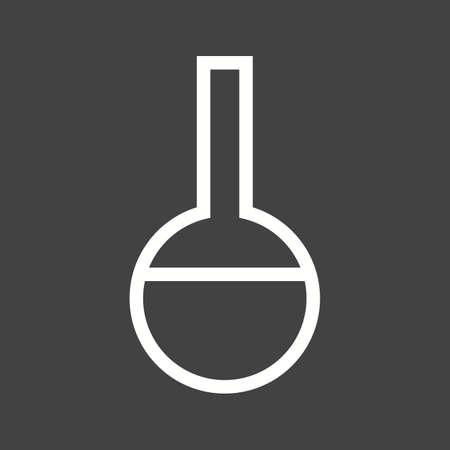 laboratory glass: Flask, laboratory, glass icon vector image.