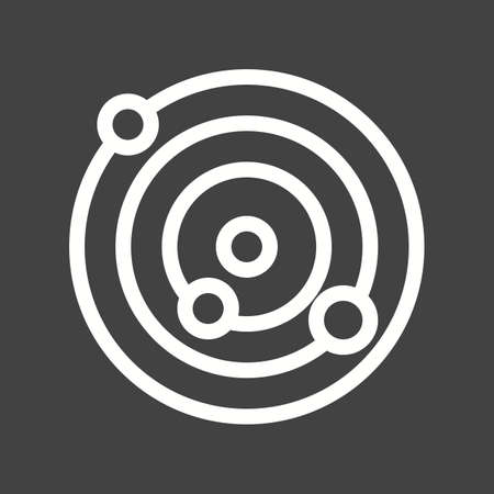atomic: Molecule, atomic, formula icon vector image. Illustration