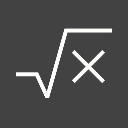 square root: Square, root, equation icon vector image.
