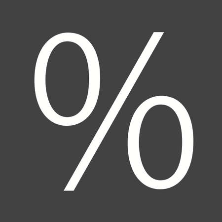 fraction: Percentage, portion, fraction icon vector image.