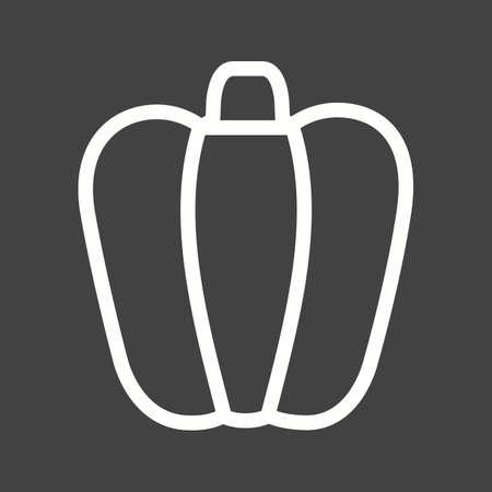 capsicum: Capsicum, green, red icon vector image.