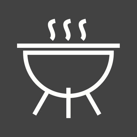 stainless steel pot: Pot, cooking, lid icon vector image.