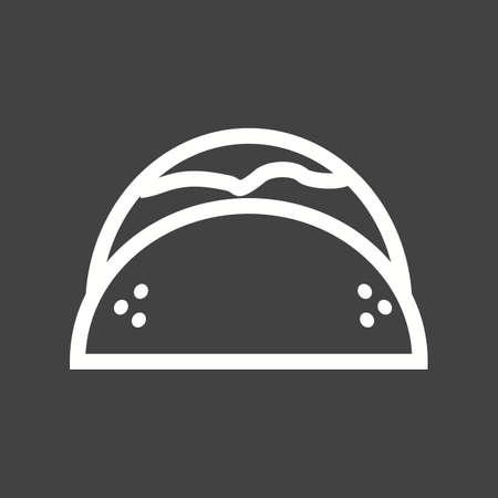 wrap vector: Wrap, chicken, sandwich icon vector image.