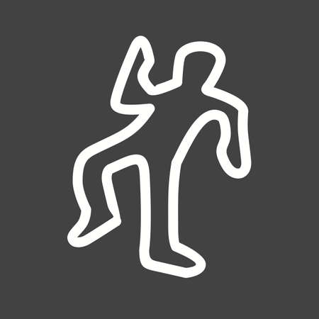 murder: Dead, body, murder icon vector image. Can also be used for healthcare and science. Suitable for use on web apps, mobile apps and print media.