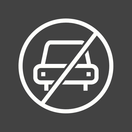 no parking sign: No, parking, sign icon vector image.Can also be used for housing. Suitable for mobile apps, web apps and print media. Illustration