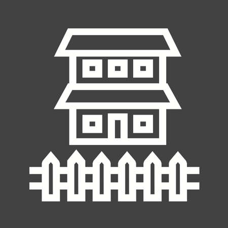 garden wall: Fence, house, boundary icon vector image.Can also be used for housing. Suitable for mobile apps, web apps and print media.