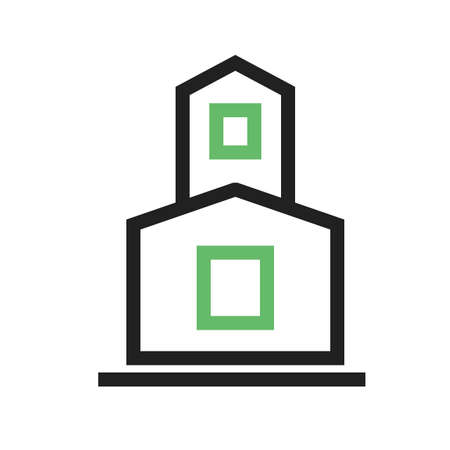 karnataka culture: Temple, indian, buddhist icon vector image.Can also be used for building and landmarks . Suitable for mobile apps, web apps and print media.