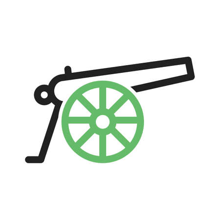 cannon: Cannon weapon icon vector image.