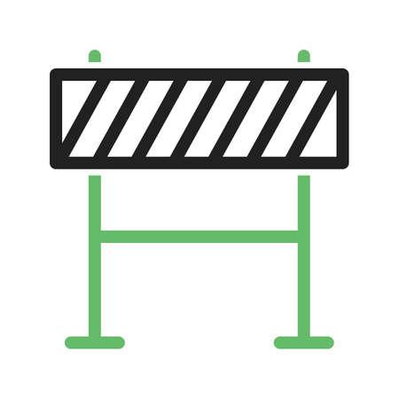 dangerous work: Barricade, warning, barrier icon vector image. Illustration