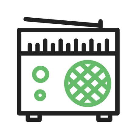 tuner: Radio, speaker, tuner icon vector image.  Illustration