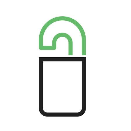 door hanger: Door, hanger, hotel icon vector image.