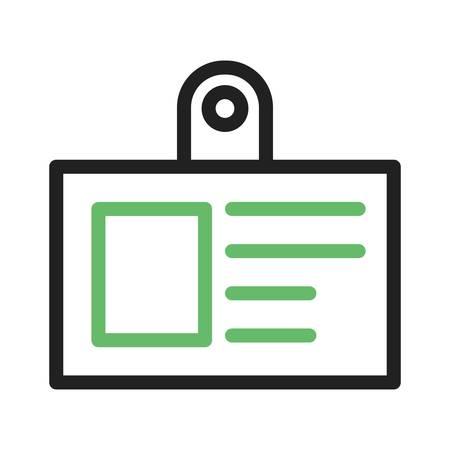 name badge: Badge, name, card icon vector image.