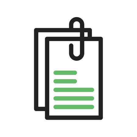 appointment: Note, paper, appointment icon vector image.
