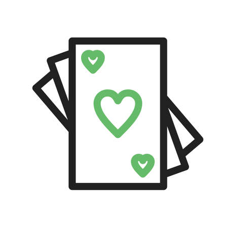 playing cards: Cards, game, playing icon vector image.