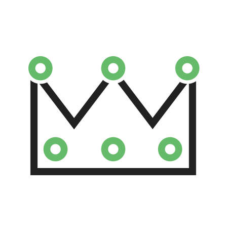 beauty queen: Crown, princess, king icon vector image.  Illustration