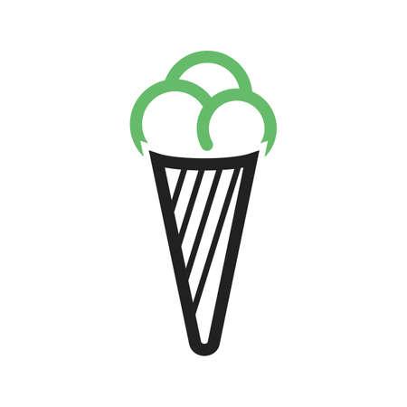 refreshment: Cone, icecream, refreshment icon vector image.