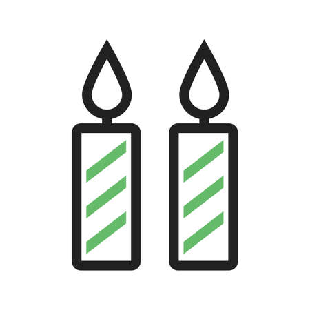 dinner party: Candles, party, dinner icon vector image.