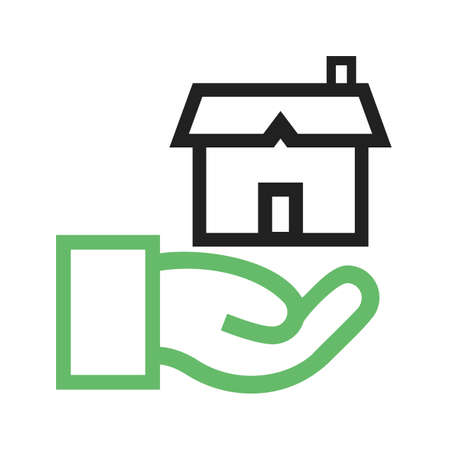 client meeting: Estate, agent, house icon vector image.Can also be used for housing. Suitable for mobile apps, web apps and print media.