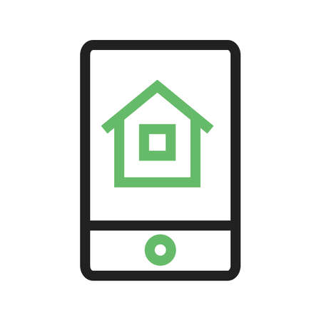 mobile apps: House, tablet, internet icon vector image.Can also be used for housing. Suitable for mobile apps, web apps and print media.