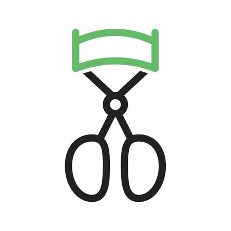 curler: Eyelash, curler, eye icon vector image. Can also be used for makeup and accessories. Suitable for use on web apps, mobile apps and print media.