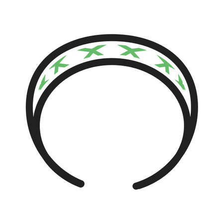 elastic band: Hair, band, rubber icon vector image. Can also be used for makeup and accessories. Suitable for web apps, mobile apps and print media.