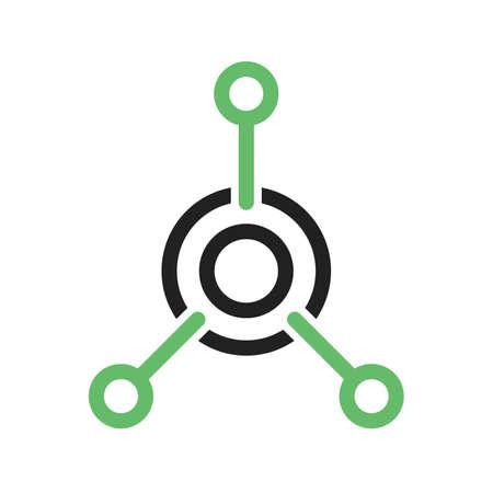 Netwerk, technologie, vector afbeelding verbinding icoon. Kan ook gebruikt worden voor IT en communicatie. Geschikt voor gebruik op het web apps, mobiele apps en gedrukte media.