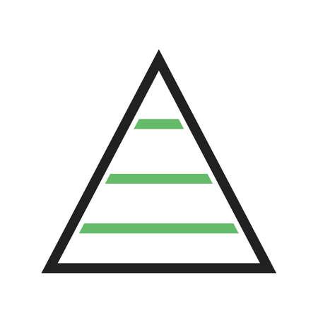 피라미드, 차트, 그래프 아이콘 벡터 이미지입니다. 비즈니스 관리에도 사용할 수 있습니다. 웹 응용 프로그램, 모바일 응용 프로그램 및 인쇄 매체에  일러스트