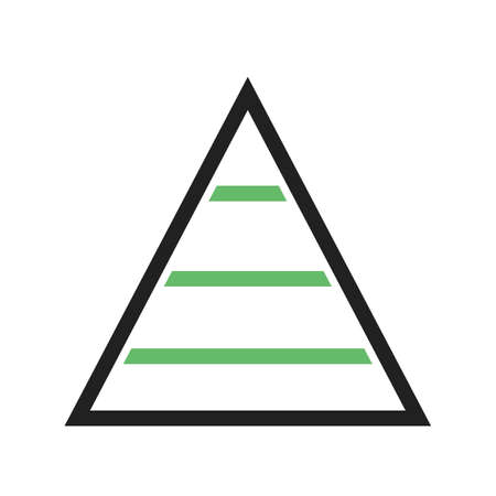 Pyramid, chart, graph icon vector image. Can also be used for business management. Suitable for use on web apps, mobile apps and print media. Illustration