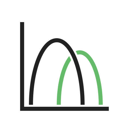 bell curve: Curve, bell, chart icon vector image. Can also be used for business management. Suitable for web apps, mobile apps and print media. Illustration