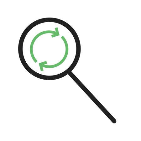 Buscar, buscar, reemplazar vector icono image.Can también ser utilizado para el diseño de materiales. Adecuado para aplicaciones móviles, aplicaciones web y medios impresos.