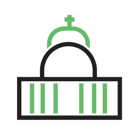 cathedrals: Cathedral, vatican, church icon vector image.Can also be used for building and landmarks . Suitable for mobile apps, web apps and print media.