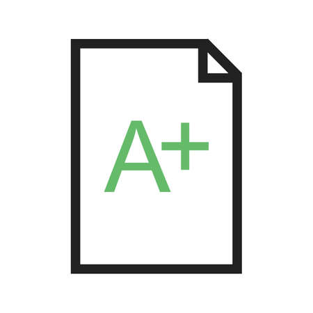grades: Grade, test, legal icon vector image.Can also be used for education and science. Suitable for mobile apps, web apps and print media.