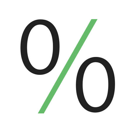 portion: Percentage, portion, fraction icon vector image.Can also be used for education and science. Suitable for web apps, mobile apps and print media. Illustration