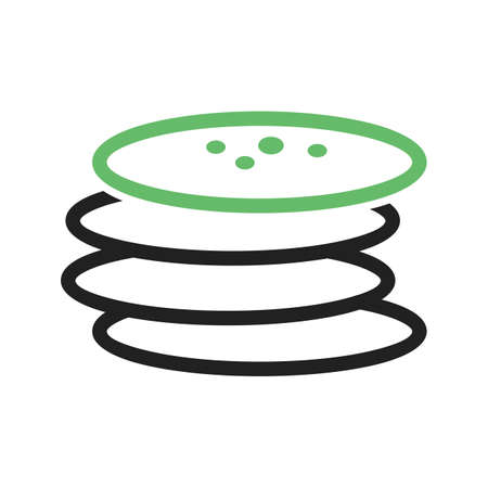 iconset: Pancake, brunch, food icon vector image.Can also be used for food iconset. Suitable for mobile apps, web apps and print media. Illustration