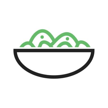 ensalada de verduras: Ensalada, tazón de fuente, la imagen del vector del icono fresco. También se puede utilizar para conjunto de iconos de alimentos. Adecuado para su uso en aplicaciones web, aplicaciones móviles y material de impresión.