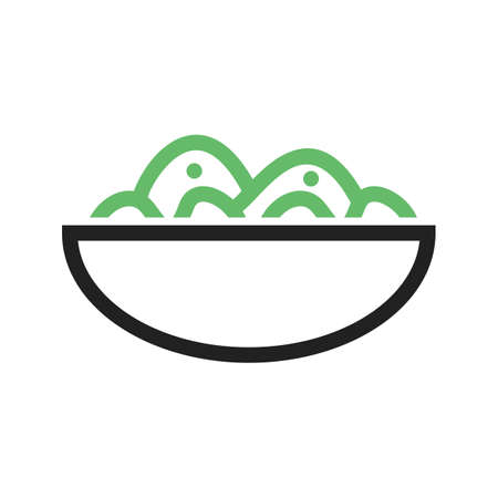 vegetable salad: Salad, bowl, fresh icon vector image. Can also be used for food iconset. Suitable for use on web apps, mobile apps and print media.