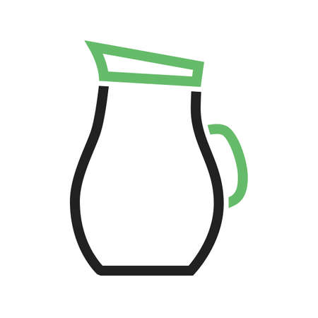 iconset: Water, jug, glass icon vector image. Can also be used for food iconset. Suitable for use on web apps, mobile apps and print media. Illustration