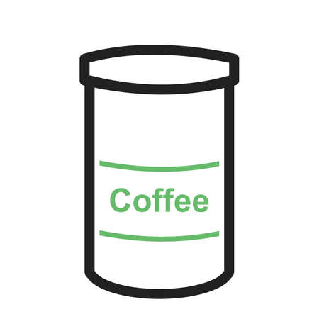 iconset: Coffee, bottle, jar icon vector image. Can also be used for food iconset. Suitable for use on web apps, mobile apps and print media.