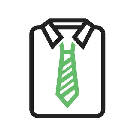 shirt and tie: Shirt, tie, office icon vector image. Can also be used for office. Suitable for use on web apps, mobile apps and print media.