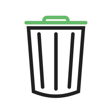 clean office: Dustbin, clean, office icon vector image. Can also be used for office. Suitable for use on web apps, mobile apps and print media.
