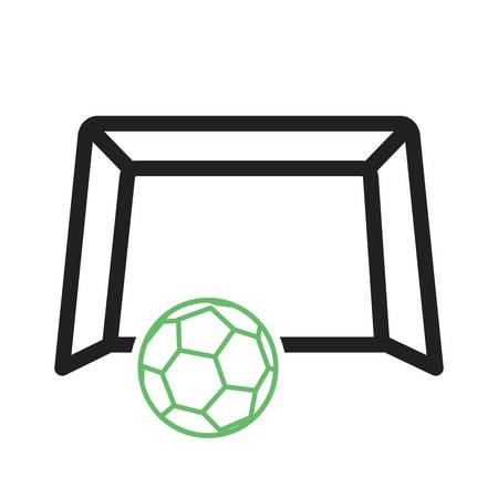 soccer goal: Soccer, goal, football icon vector image. Can also be used for fitness and sports. Suitable for web apps, mobile apps and print media. Illustration