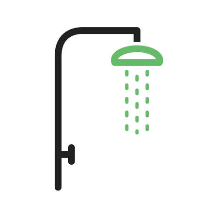 showering: Shower, hair, bath icon vector image. Can also be used for camping. Suitable for use on web apps, mobile apps and print media.