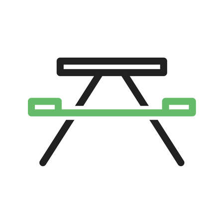 lawn furniture: Bench, wooden, forest icon vector image. Can also be used for camping. Suitable for web apps, mobile apps and print media.